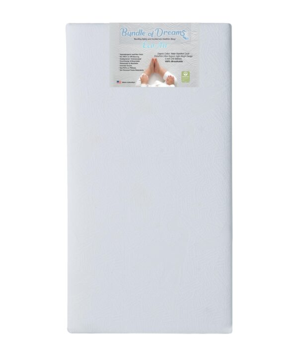 5 Firm Eco-Air Crib Mattress with Organic Cotton Cover