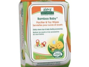 Aleva Naturals Bamboo Baby Pacifier & Toy Wipes, 180 Count (6 Packs of 30)