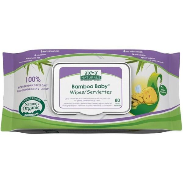 Bamboo Baby Wipes, 480 Count (6 Packs of 80)