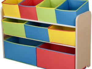 Children Deluxe Toy Organizer with Bins