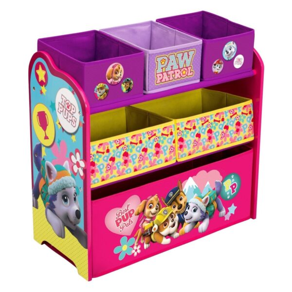 Children PAW Patrol, Skye & Everest Multi-Bin Toy Organizer