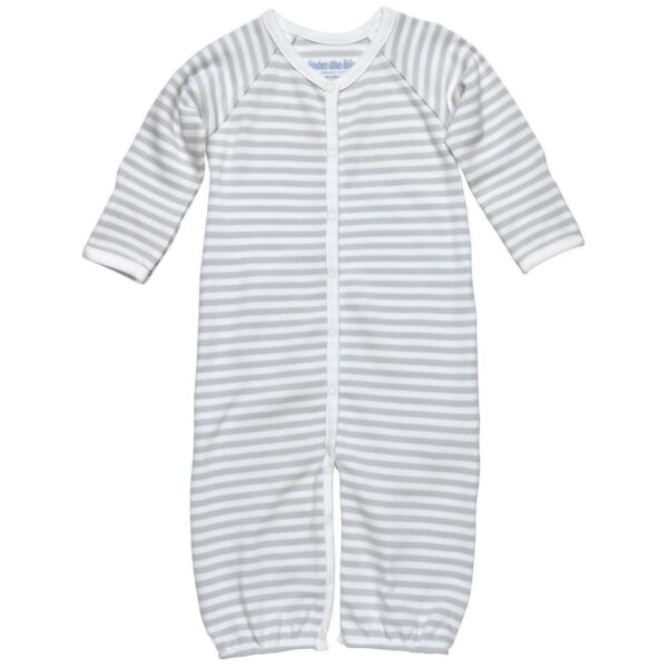 Convertible Romper- Grey Stripe