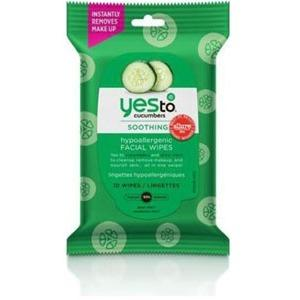 Cucumbers Hypoallergenic Facial Wipes 10 ct