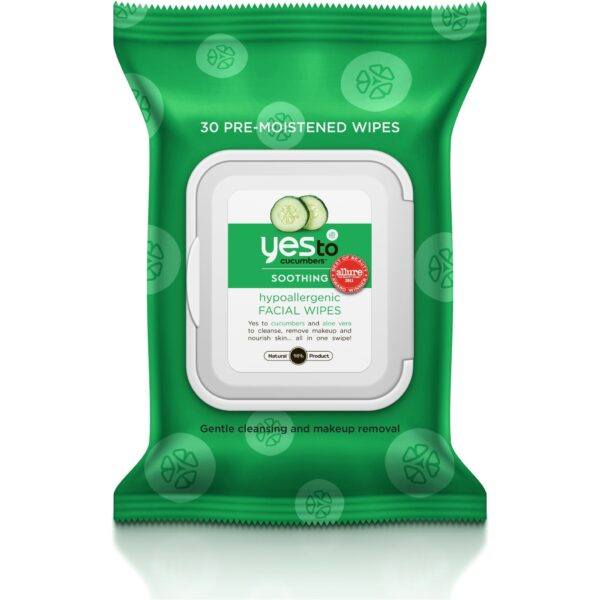 Cucumbers Hypoallergenic Facial Wipes 30 ct