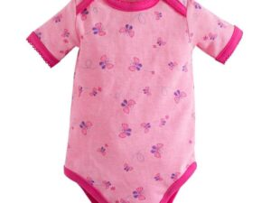 Flutter Short Sleeve Lap Shoulder Bodysuit - Beetroot Melange