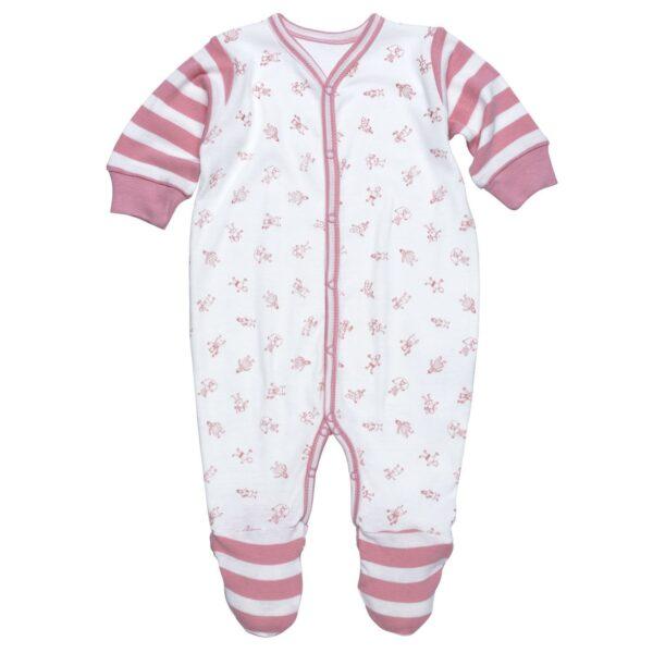 Footie - Little People Pink