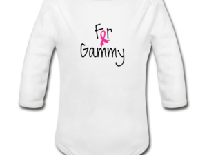 For Gammy Breast Cancer Awareness Organic Long Sleeve Baby Bodysuit