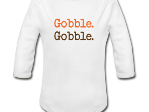 Gobble-Gobble Organic Long Sleeve Baby Bodysuit
