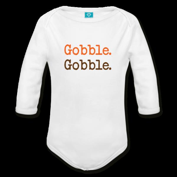 Gobble-Gobble Organic Long Sleeve Baby Bodysuit