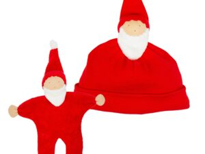 Holiday Santa Beanie + Buddy Toy Set
