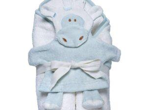 Hooded Towel and Wash Mitt Set - Giraffe