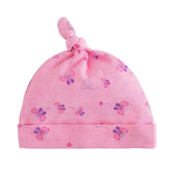 Knot Top Beanie - Butterly Print