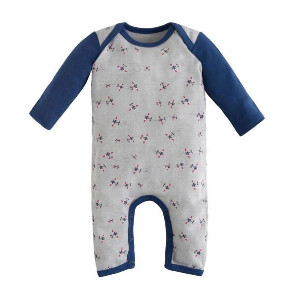 Lap Shoulder Romper - Twilight Planes