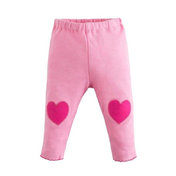 Legging with Heart Knee Patches - Beetroot Melange