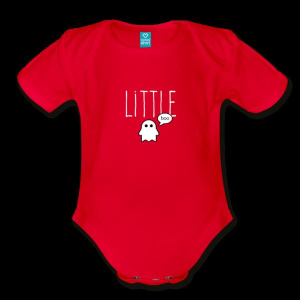 Little Boo (dark) Organic Short Sleeve Baby Bodysuit