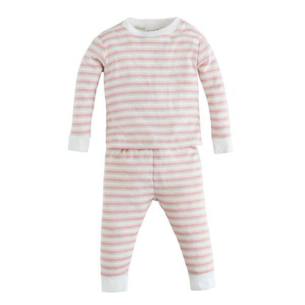 Long Johns - Pink Multicolor Stripe