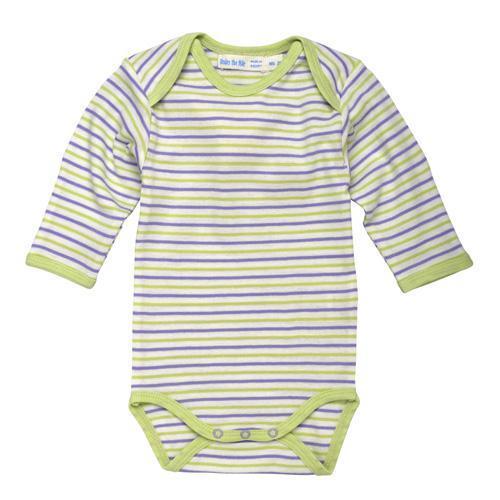 Long Sleeve Babybody - Lilac Stripe