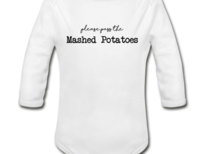 Mashed Potatoes Organic Long Sleeve Baby Bodysuit