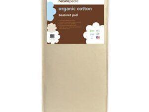 Naturepedic Organic Cotton Bassinet Mattress 15 x 33 x 2