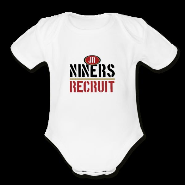 Niners Organic Short Sleeve Baby Bodysuit