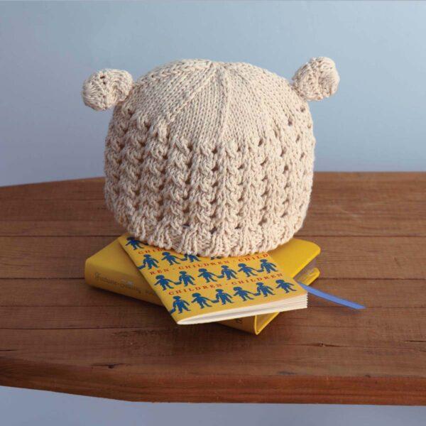 Organic Beanie Pom Baby Hat - Empress Arts