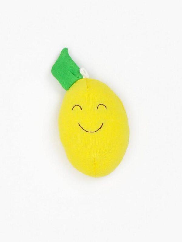 Organic Cotton Baby Stuffed Lemon Fruit Toy - 4