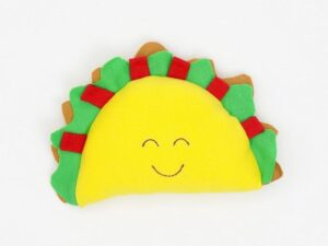 Organic Cotton Baby Stuffed Taco Plush Toy - 5.5