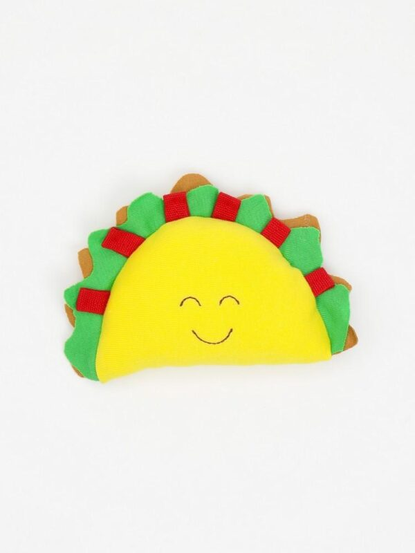 Organic Cotton Baby Stuffed Taco Plush Toy - 5.5