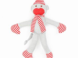 Organic Cotton Big Holiday Monkey Toy - 11 tall