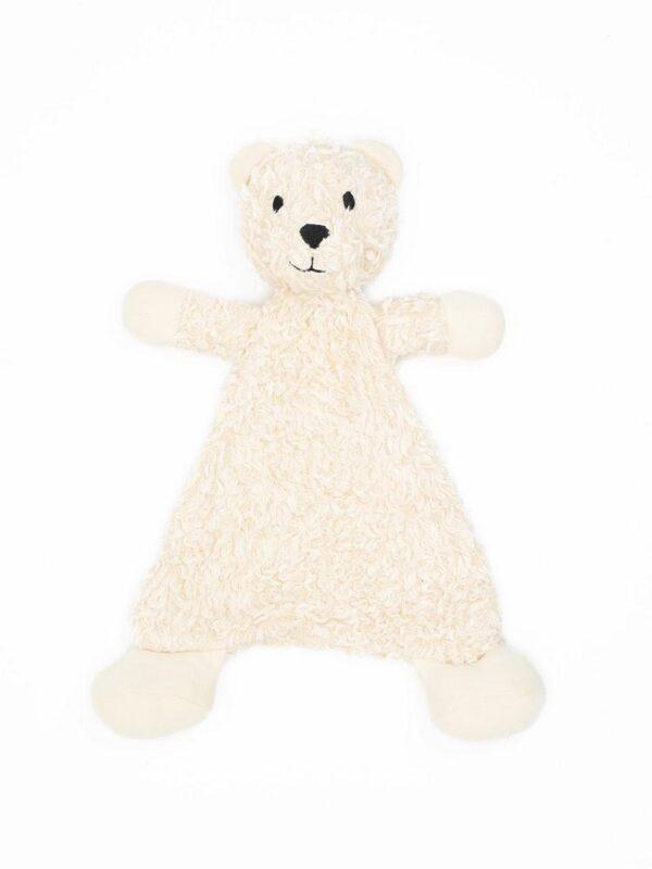 Organic Cotton Flat Faux Fur Sherpa Snuggle Bear Toy - 13 tall