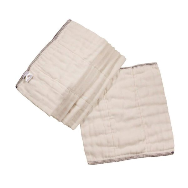 Organic Cotton Prefolds - 6 Pack