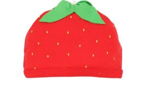 Organic Cotton Strawberry Baby Beanie Hat