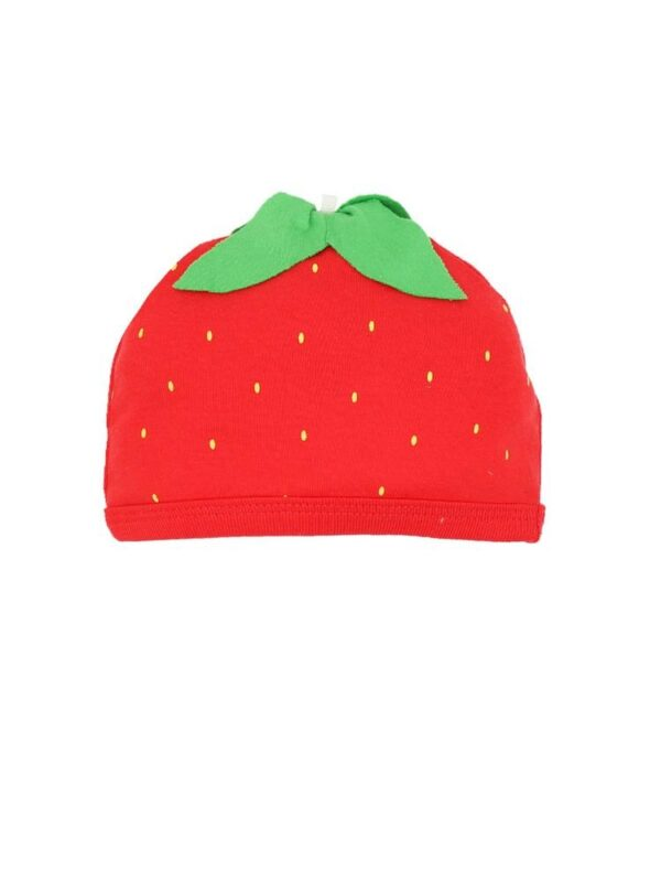 Organic Cotton Strawberry Baby Beanie Hat