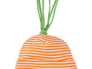 Organic Cotton Stripe Carrot Baby Beanie Hat