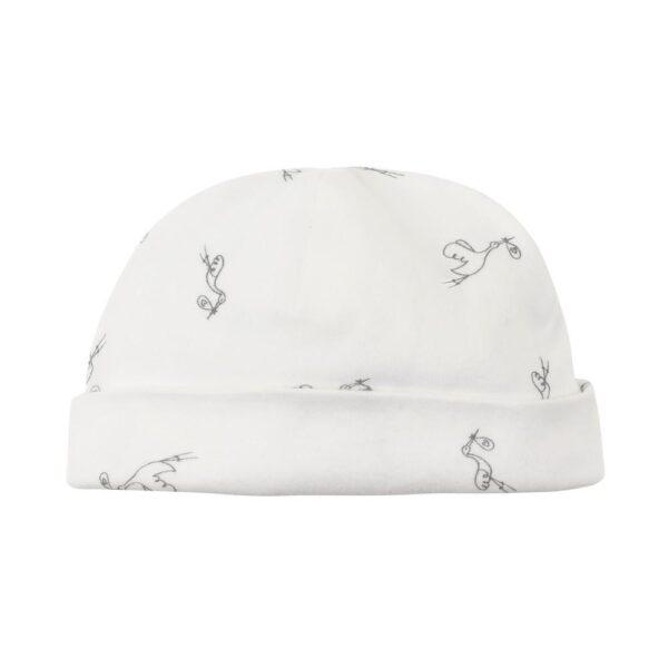 Organic Cotton Unisex Stork Print Baby Beanie Hat