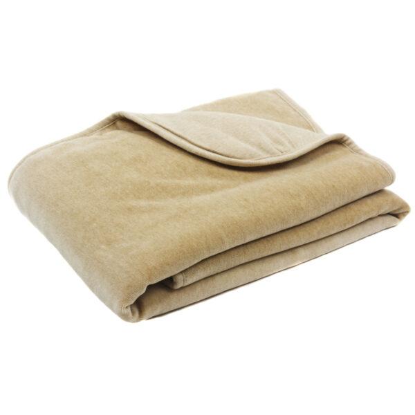 Organic Crib Size Comforter - Mocha