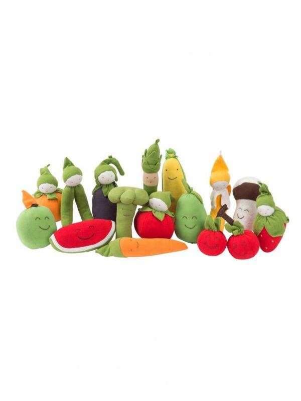 Organic Farmers Market Set of 15 Fruit and Veggies