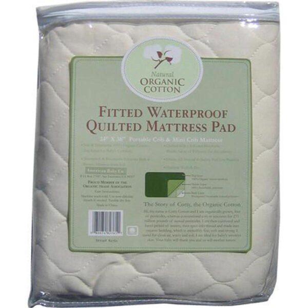 Organic Waterproof Mattress Pad - Mini Crib