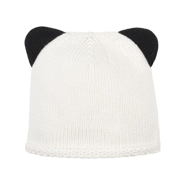 Panda Knitted Hat - Off-White