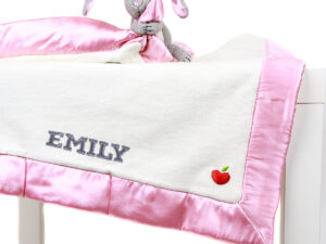 Personlized Apple Park Blankie With A Toy - Bunny