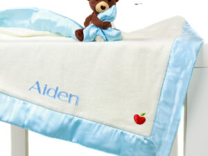 Personlized Apple Park Blankie With A Toy - Cubby