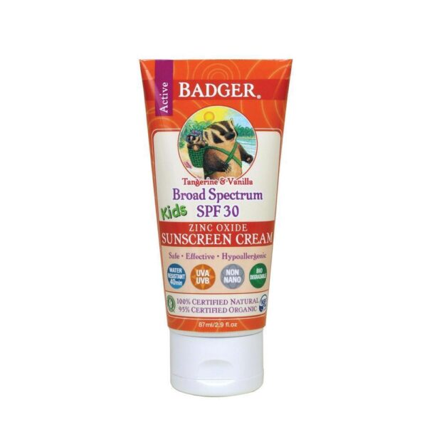 SPF 30 Kids Sunscreen Cream Tangerine & Vanilla 2.9 Oz