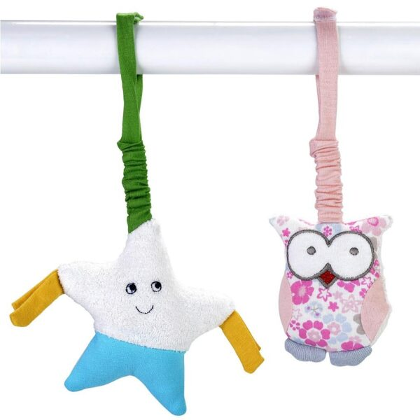 Scrappy Stroller Toy - 2 Pack, Star & Owl