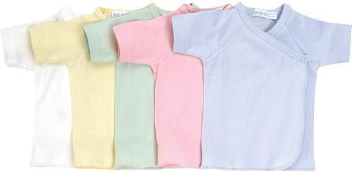 Short Sleeve Side Snap Undershirt - Solid