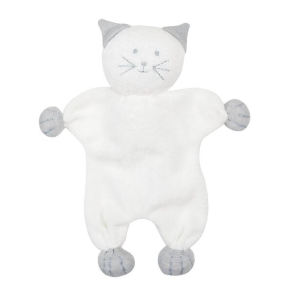 Soft Flat Cat Toy - Off White