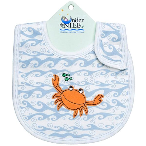Unisex-Baby Infant Print Wave Bib