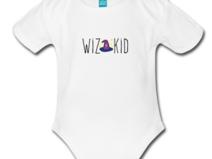 Wiz Kid Organic Short Sleeve Baby Bodysuit
