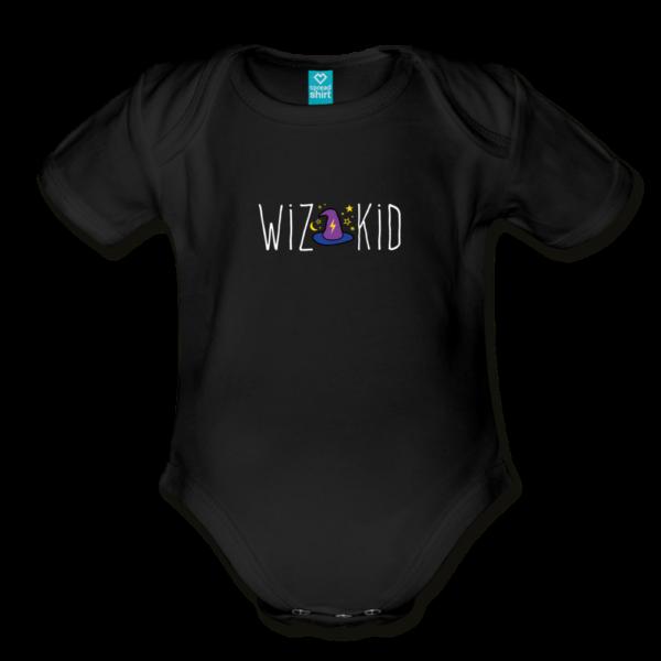 Wiz Kid (dark) Organic Short Sleeve Baby Bodysuit