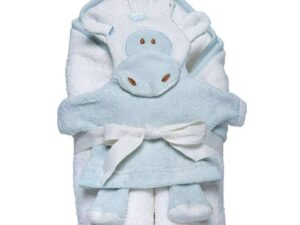 Hooded Towel and Wash Mitt Set