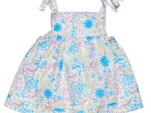 Poplin Muslin Bubble Dress w/ Pintucks